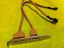 iLink  2 Port USB 2.0 / 1 Port Firewire 1394 rear panel Header Bracket ,ORIGINAL