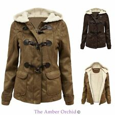 Polyester Duffle Casual Coats & Jackets for Women