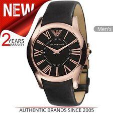 Emporio Armani Men's Formal Watch│Roman Numerals Dial│Black Leather Strap│AR2043