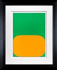 Ellsworth KELLY Lithograph ORIGINAL 1964 Yellow/Green LIMITED Ed. w/Custom Frame