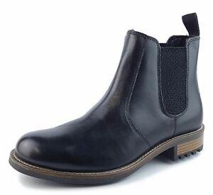 Mens Leather Chelsea Boots Loddington Frank James Leather Black