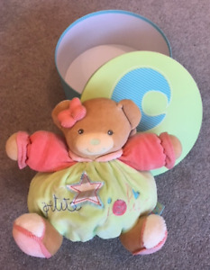 Kaloo Bliss Medium Bear with Flower - petite jolie