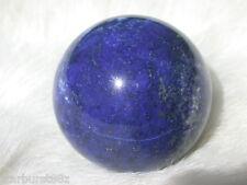 """1.28"""" LAPIS LAZULI SPHERE PYRITE CALCITE DEEP BLUE GEM BALL GR8 4 GIFT"""