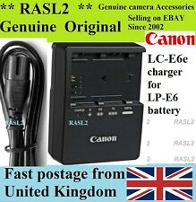 Genuine Original CANON Charger LC-E6E LP-E6 EOS R,5D Mark 2 3 4,6D,7D,7D II,XC10