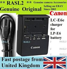 Genuine Original CANON Charger LC-E6E LP-E6 EOS 5D Mark 2 3, 5D Mk ll III 7D 60D