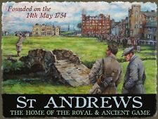 St Andrews Golf Club Course Game Scotland Old Picture Medium Metal/Tin Sign