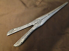 Gloves Stretcher Sterling Silver London 1883-Crested Marked And Antque