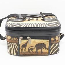 Africain Safari Éléphant Girafe Bagage Valise Maquillage Train Étui à Main