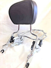 Detachable Sissy Bar Four Point & AIRWING Luggage Rack For Harley Touring 14-18