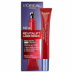 Loreal Revitalift Laser Renew Precision Eye Cream Re plumps Wrinkles *New&Sealed