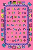 KIDS CHILDREN SCHOOL CLASSROOM ABC FUN PINK 5' X 7' LARGE EDUCATIONAL GEL RUG