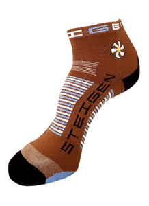 Steigen Brown Quarter Length Performance Running and Cycling Socks