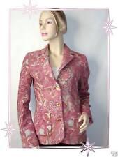 Magnifique Veste Blazer Imprimé Damassé Rose Votre Nom Taille 38