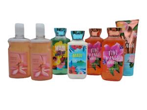 x7 Bath & Body Works Mixed Lotion Gel Cream Peach Plumeria Mango Maui Tiki Mai