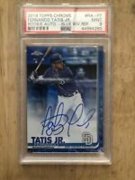 2019 Topps Chrome Fernando Tatis Jr. AUTO BLUE WAVE REFRACTOR RC #35/150 PSA 9