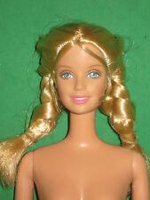 Walking Barbie- Honey Blond Hair In Braids-Nude For Ooak