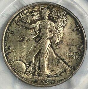1934 P PCGS MS64 Silver Walking Liberty Half Dollar 50c ~ Crisp Strike & Patina