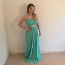 Flam Mode Women's Mint Turquoise Dress Bridesmaid Wedding Prom Party Uk 12/14