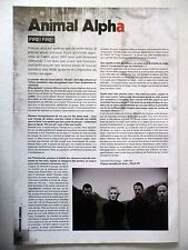 COUPURE DE PRESSE-CLIPPING :  ANIMAL ALPHA  08-09/2008 Wibe,You Pay…