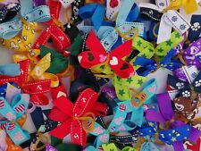 More details for 100 mixed grossgrain dog grooming bows
