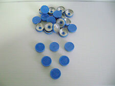 VIAL CAPS 20MM IN BLUE ( FLIP OFF WRITING ON TOP) x 200