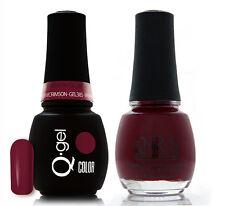 Gel & Polish QRS Beauty Combo MAT385 Madam Crimson Red Color