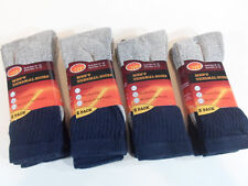 8 PAIRS Men's Thermal Socks Exrta Warm Blue and Grey long Shoe Size 6-12 Winter