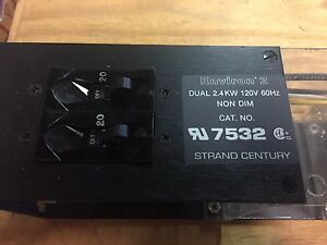 STRAND LIGHTING Environ 2 7532 Dimmer Module pack Dual 2.4 KW