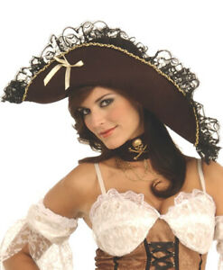 Maiden of the Sea Pirate Hat Genuine Rubies - New