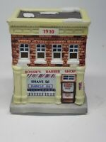 Ceramic Christmas American Landmark Collection '94 Barber Shop w/Light hole 🇺🇸
