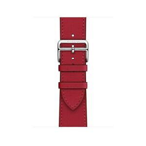 Brand New Genuine Apple Watch Hermès 40mm Rouge Piment Swift Leather Single Tour