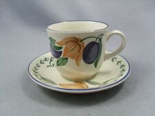 Staffordshire Tableware Plums Cup & Saucer