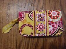 "Vera Bradley ""Bali Gold"" Zip Around Small Cosmetic Makeup Case Wallet ""NWOT"""