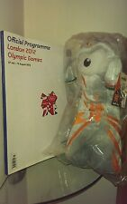 "BNWT 12"" Wenlock Soft Toy London 2012 + Programme both official merchandise"
