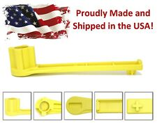 Yellow 4-IN-1 Bung Drum Wrench 55-30-15 Gallon Water  Barrel Nut Cap Plug