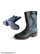 """Wesco - Boss - 10"""" Black Leather Boots - Western - Vintage"""