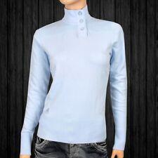 Adidas Damen Pullover Strickpullover Rolli Golf Knit Jumper Sweat Shirt hellblau