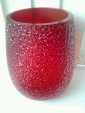 ART VASO in vetro rosso soffiato a mano/made Villeroy Boch Tavolo Decorativo Fiore decor