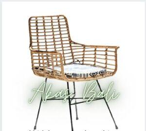 Rattan Chair / Cafe Restaurant Dining Chair / Terrace Garden Chair Type 2