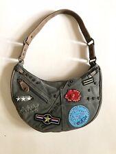 Guess Satchel Handbag Canvas Purse Girls Khaki Shoulder Bag Hobo Army