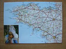 VINTAGE POSTCARD MAP - BRITTANY FRANCE