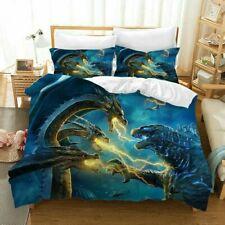 New ListingUs Godzilla 3Pcs Bedding Set Quilt Duvet Cover Pillowcase Comforter Cover Gifts