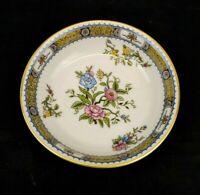 Noritake Pekin Fine China Desert Berry Bowl White Pink Blue Gold