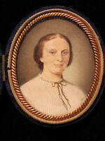 Antique Victorian Portrait Miniature Circa 1850