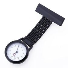 clip-on watch nurse watch nurse brooch black Z7H6