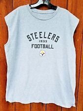 Pittsburgh Steelers Football 1933 Gray Muscle shirt Sz. XL