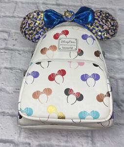 New Disney Parks Loungefly Minnie Mouse Mouse Ear Headband Backpack