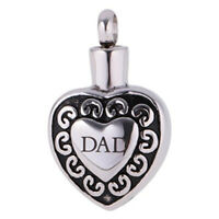 Cremation Urn Jewellery Dad Memorial Funeral Ashes Keepsake Pendant Necklace