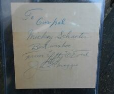 Autograph Lefty O'Doul & Joe DiMaggio  Keno Ticket