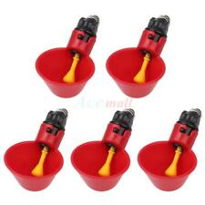 5 Pack Poultry Water Drinking Cups Chicken Hen Plastic Automatic Drinker Feeder